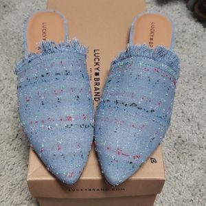 Lucky Brand Denim slip on shoes 8.5